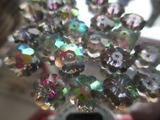 O105--24pcs Vintage Swarovski Margarita Glass Flower Vitrail Medium Beads 10mm