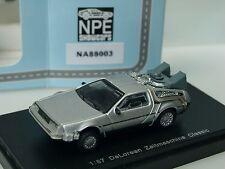 """NPE DeLorean ZEITMASCHINE """"Zurück in die Zukunft"""", silber - 88003 - 1:87"""