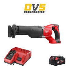 Milwaukee M18BSX-0 Cordless M18 18V Reciprocating Saw, 5Ah Battery & Charger Set