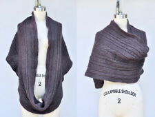 ALL SAINTS SPITALFIELDS Chunky Wool Cable Knit Infinity Scarf Unisex Eggplant