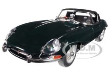 JAGUAR E TYPE ROADSTER GREEN SERIES 1 3.8 METAL WIRE WHEELS 1/18 AUTOART 73604