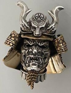 Paracord Lanyard Skull, Samurai Schlüsselanhänger 925 Sterling Silber