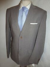 MENS TED BAKER GREY PLANE CARS SUMMER PROM WOOL SUIT JACKET 38 WAIST 32 LEG 31.5