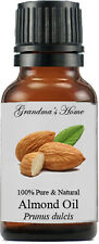 Almond (Sweet) Oil - 15 mL - 100% Pure and Natural - Free Shipping - US Seller