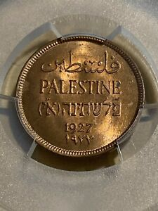1927 Palestine 1 Mil Graded MS64+RD by PCGS!!