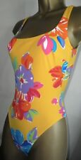 SEXY LADIES RASUREL YELLOW MIX BUST LINED SWIMSUIT SIZE 10