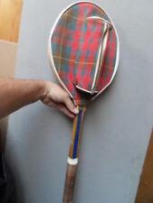 2raquette de tennis Gauthier Brisbane en bois vintage wooden racquet etui balles