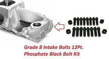 396 454 Chevelle Camaro Bbc Intake Manifold Bolts Grade 8 Phosphate 12pt Bolts