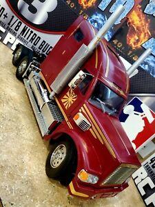 "Tamiya 1/14 Scale Semi Truck "" Knight Hauler"" RC RTR Full ""Custom"""