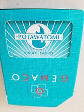 Potawatomi Casino Used Playing Cards Blue Milwaukee, Wisconsin