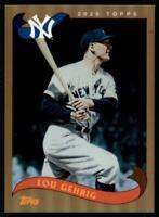 2020 Archives Base Foil #281 Lou Gehrig /75 - New York Yankees
