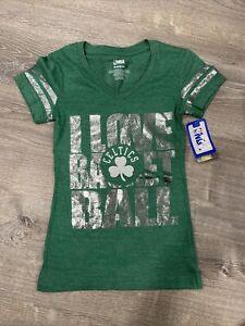 NWT NBA I Love Basketball Green Clover Boston Celtics Shirt Girls Size S 6/6X B1