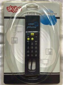 USB Internet VoIP Skype PC Handset Telephone Black with Backlit Keypad Brand New