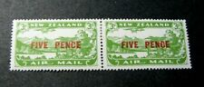 New Zealand Stamp Scott#  C4 Surcharged-Plane- Lake Manapouri 1931 MH Pair C551