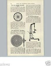 1905 PAPER AD Nichells Service Station Garage Engine Hoist Lift Car Automobile