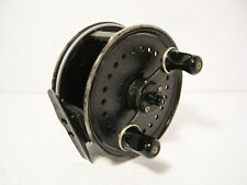 "Vintage JW Young Alloy 4"" Landex Centrepin Fishing Reel - Wide Drum Model"