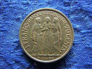 DANISH WEST INDIES 20 CENTS 1907, KM81