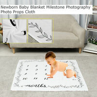 Baby Newborn Letter Monthly Growth Blankets For Photography Rug Photo Prop