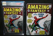 Amazing Fantasy #15 - 1oz .999 Pure Silver Foil Spider-Man CGC Grade 9.9 - 2018