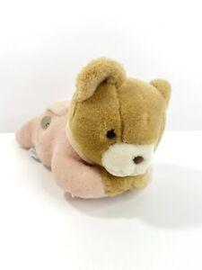 "Vintage 10"" EDEN Plush MUSICAL PINK Bear Turn Key Wind Up Stuffed Head Moves T"