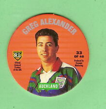 1995 NSW  LEAGUE TAZO #33 GREG ALEXANDER , AUCKLAND WARRIORS