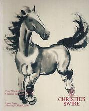 CHRISTIE'S HK CHINESE PAINTINGS Pu Ru Qi Baishi Ren Yi Zhang Daqian Catalog 1990