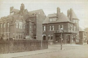 Cabinet Card Photo Local Shop Houses Street Taken By Ely Lodge Studio Leicester