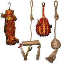 BIRD TOY PACKAGE- Abaca, Swing, Natural, Parrot, Shredding, Palm