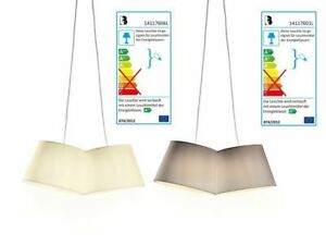 LED Pendelleuchte Pendellampe Deckenleuchte Hängelampe A + aus feinem Textil
