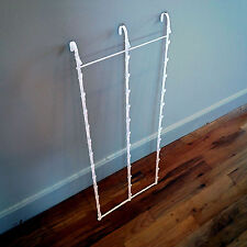 New Retail Hanging Clipper Display Grid Panel Rack 36 Clips White
