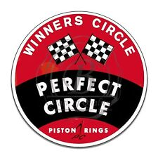 Perfect Circle Piston Rings Winners Circle Reproduction Round Aluminum Sign