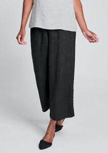 FLAX Designs  Linen Pants     M  &   L     NWT  FLoods  Pants  BLACK