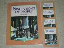 Teacher Big Book SING A SONG OF PEOPLE Lois Lenski-Shared Reading RARE+4 Little
