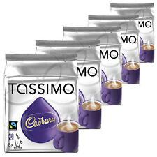 Tassimo Cadbury Hot Chocolate,  5  Packs (40 Servings)