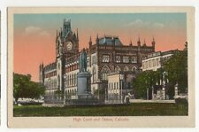 India, High Court & Statue, Calcutta Postcard, A655