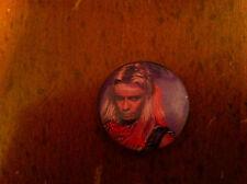 MOTLEY CRUE Vintage Pin Button Pinback VINCE NEIL Heavy Metal Hard Rock Hair old