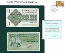 1GULDEN SURINAME  DU 08 04 1960 COLLECTION UNC NEUF+ TIMBRE DU PAYS GROSSE COTE