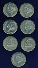 MEXICO ESTADOS UNIDOS  1983 1 PESO COINS, ALMOST UNCIRCULATED/BU