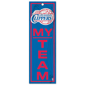 "NBA Los Angeles Clippers My Team - 4"" x 13"" Wood Type Sign   New"