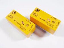 2 x SDS Relais 5V 4xEIN 250V 4A Panasonic S4-5V Gold #12R28#