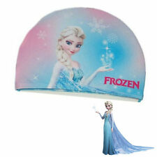 New Elsa Frozen Lycra Cartoon Swimming Bathing Cap Hat for Children Kids Girl