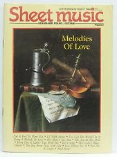 Sheet Music Magazine Melodies of Love A Fool To Want You September/October 1989!