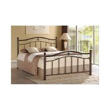 Queen Metal Bed Frame Headboard Footboard Contemporary Furniture Platform Beds