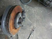 VOLKSWAGEN POLO LEFT FRONT HUB ASSEMBLY, 6R, NON GTI TYPE, 05/10-07/14