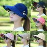 Brand New Women Visor Hat Summer Sun Beach Ladies Foldable Roll Up Wide Brim Cap