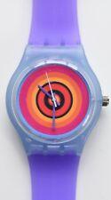 Retro 80s designer watch - Colorful Target watch