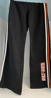 Harley Davidson Sweatpants S Black Orange Stripe