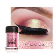 FOCALLURE Rose Gold Loose Pigment Waterproof Shimmer Glitter Eye Shadow 12