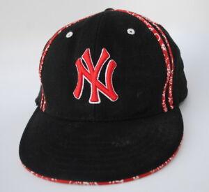 NEW YORK YANKEES MLB Baseball Cap Hat YOUTH One Size Stretch Fit Flat Bill