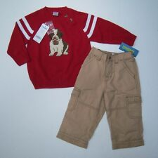 NWT Gymboree Snow Days 18-24 Month St. Bernard Dog Sweater & Khaki Pants
